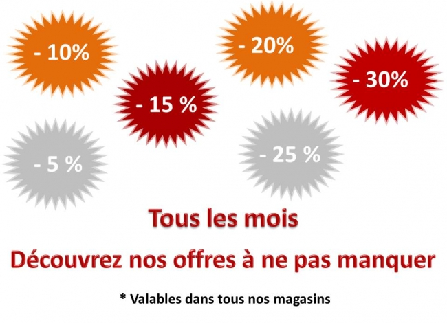 Consulter nos promotions ICI !